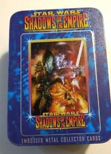 STAR WARS SHADOWS OF THE EMPIRE EMBOSSED METAL COLLECTOR CARDS