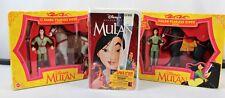 DISNEY - Mulan & Li Shang Fearless Rider Giftsets & Mulan's VHS Movie - NEW