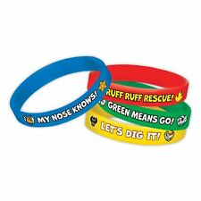 4 x Paw Patrol Rubber Bracelets - Birthday Party Loot Bag Fillers / Favor Toys