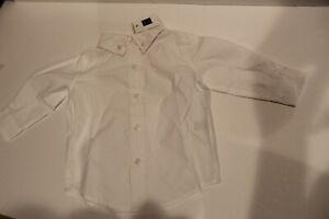 NWT 3-6 mos Janie and Jack boys white dress shirt
