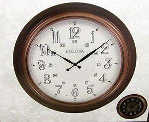 "BULOVA NEW INDOOR / OUTDOOR WALL CLOCK  ""KEY WEST""  C4852"