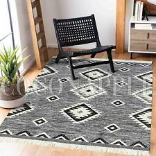 Gafsa Geometric Moroccan Tribal Black White Modern Rug - 3 Sizes **FREE DELIVERY