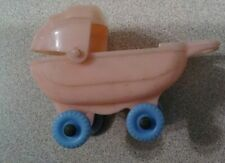 Vintage 1950's Hard Plastic Dollhouse Furniture ACME Baby Buggy