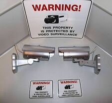 FAKE SECURITY SURVEILLANCE LED CAMERA SYSTEM+ADT L YARD WARNING SIGN+STICKER LOT