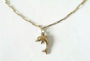 9ct Gold Dolphin Pendant Bracelet