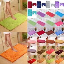 Non-slip Memory Foam Bath Shower Mat Set Pedestal Pebble Soft Bathroom Rug Rugs