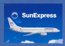 SunExpress Turkish Airlines LOGO Label Boeing 737-86N