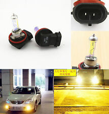 2 Pcs H11 3000K GOLDEN YELLOW 55W XENON HID HALOGEN BULBS for DRIVING FOG LIGHT