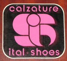 """Adesivi Anni ' 80 """" ITAL SHOES-CALZATURE """""""