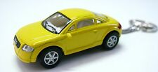 Kinsmart Audi TT with Key Chain 1:64 Scale Diecast Car Model Yellow NEW