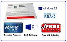SIGILLATO MICROSOFT WINDOWS 8.1 PRO PROFESSIONAL OEM | COA & confezione da 64 Bit DVD