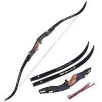 "20-50lb Recurve Bow 60"" Raptor ILF Limbs NIKA Archery Powerful Hunting Shooting"