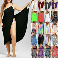 Damen Boho Bademode Bikini Beachwear Cover Up Kaftan Strand Sommer Minikleid Top