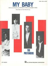 """THE PRETENDERS """"MY BABY"""" SHEET MUSIC-PIANO/VOCAL/GUITAR-BRAND NEW ON SALE-MINT!!"""