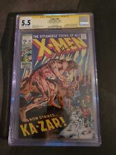 X-men 62 CGC 5.5 Roy Thomas Signature Series First Appearance Of Savage Land...