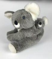 """Chrisha Playful Plush, Grey Koala Bear Mommy & Baby 16"""" Large Stuffed Animal Toy"""