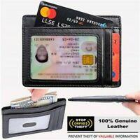 灬灬Slim Wallet Minimalist Secure Thin Credit Card Holder RFID Front Pocket Wallet