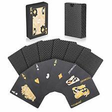 Jeu de Carte Poker Étanches en Plastique Diamond Noir Nouveauté Parfait Fête Jeu