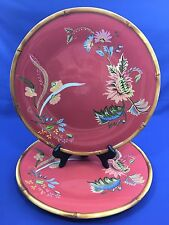 Tracy Porter Artesian Road Collection Hand Painted Set of 2 Dinner Plates  Lot C