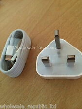 GENUINE APPLE AC MAINS CHARGER + LIGHTNING USB SYNC CABLE for iPad 4 Air Mini 2