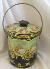Vintage Murray Allen Lunch Pail Canister Romantic Tea Tin England Lid Scenic