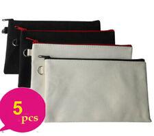 5* Eco Plain Blank Cotton Canvas Makeup bags Cosmetic Bag Purse Organizer Cases