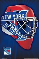 NEW YORK RANGERS - MASK LOGO POSTER - 22x34 NHL HOCKEY 15306