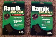 Ramik mouse glue trap 4pk(qty2) scented glue trays for mice pre baited traps NEW