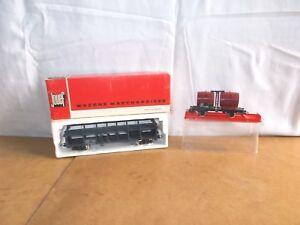 2x wagons JOUEF HO avec boites - PORTE AUTOS STVA SNCF + FOUDRE DOUBLE SNCF