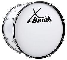 """Marsch Pauke Bass Trommel Marching Drum Große Trommel weiß 26"""" x 12"""" Stadion Fan"""