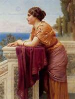 JOHN WILLIAM GODWARD THE BELVEDERE OLD MASTER ART PAINTING PRINT POSTER 1663OM
