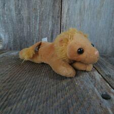 Lion Plush Noah's Ark Set Unipak Stuffed Animal Small Plastic Nose Cat Kitten