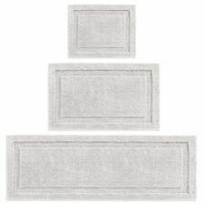 mDesign Microfiber Polyester Bathroom Spa Mat Rugs/Runner, Set of 3 - Gray