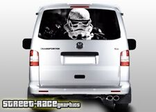 VW Volkswagen Transporter T5 tailgate wrap 129 printed Storm Trooper vinyl