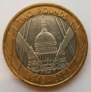 £2 pound coin. St Paul's Cathedral 1945 - 2005 FREE DELIVERY