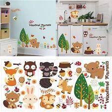 Woodland Animal Wall Sticker Wall Decal Baby Nursery Room Decoration Gift Ideas