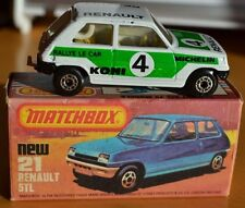 Matchbox Superfast Nr. 21 weiß Renault 5 TL Rallye Le-auto Koni 4 - VNM