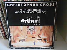 "CHRISTOPHER CROSS"" Arthur's theme Minstrel gigolo"" 7"" UK press vynil ex+"