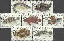 Timbres Poissons Tanzanie 847/53 o lot 1668