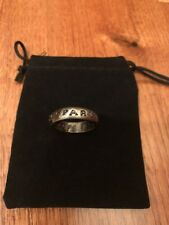 Uncharted 4 A Thief's End Titanium Mens Band Ring Size 10 Cosplay New Rare Pouch