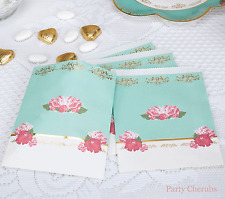 Bolsas Floral Candy Buffet X 25-con detalle de hoja de oro