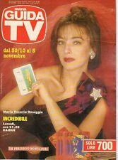 rivista NUOVA GUIDA TV ANNO 1988 NUMERO 43 MARIA ROSARIA OMAGGIO