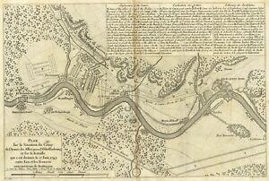 Plan Schlacht DETTINGEN 1743 Aschaffenburg Kleinostheim Mainaschaff Stockstadt