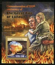 Sierra Leone 2016 350th Anniversary Of The Great Fire Of London S/S Mint Nh