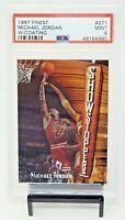 1997 Finest w Coating HOF Bulls Great MICHAEL JORDAN Basketball Card PSA 9 MINT