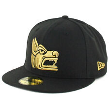 "New Era 59Fifty Tijuana Xolos ""Prehispanic"" Fitted Hat (Black/Gold) Soccer Cap"