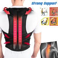 Unisex Adjustable Posture Corrector Shoulder Back Support Belt Brace Therapy Men