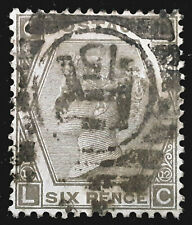 Great Britain Stamp 1873 6d Queen Victoria Plate 12 Scott # 60 SG125 Used