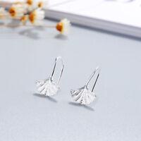 Trendy Alloy Ginkgo Leaves Shape Dangle Earring Women Fashion Jewelry Gift