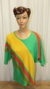 Pull manches courtes oversize CHACOK vintage 80's taille 1 made in France